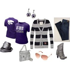 K-State Game Day Look 4 - Wildcat Victory!