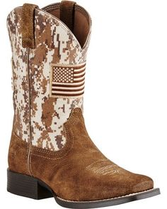 f12f90d1a Ariat Boys' Brown Patriot Boots - Wide Square Toe | Boot Barn Western Boots,