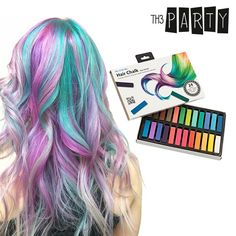 Colour your hair and model a really original hairstyle without the need to apply dye with the new Party hair chalk (pack of Perfect for colouring yo. Isle Of Man, Party Hairstyles, Latest Hairstyles, Color Rinse, Shop Story, Hair Chalk, Color Your Hair, Bourjois, Light Hair