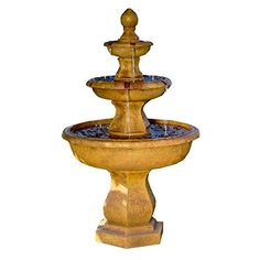 Sunnydaze Tropical 3Tier Garden Water Fountain 40 Inch Tall * For more information, visit image link. (This is an affiliate link and I receive a commission for the sales) #IndoorFountainsAccessories