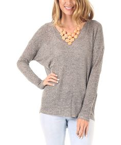Another great find on #zulily! Mocha Knit Dolman Sweater - Women by Pinkblush #zulilyfinds