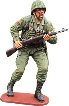 American Soldier Life Size Statue - Human Figurine