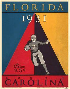 Florida Gators Football 1931 Vintage Program Poster