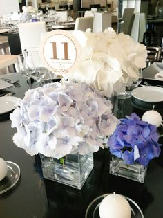 hydrangeas wedding centerpieces