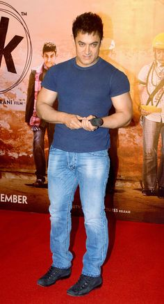 Aamir Khan at the 'PK' teaser launch. #Bollywood #Fashion #Style #Handsome