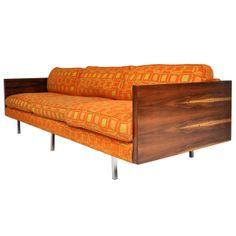 Milo Baughman Rosewood Case Sofa #midcenturymodern