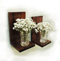 Wall sconce, candle sconce, candle shelf, rustic sconce, country decor, wooden shelf, wooden sconce, decorative sconce, mason jar holder