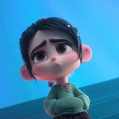 Awww my baby ❤️ Cartoon Icons, Girl Cartoon, Cartoon Art, Cute Cartoon Pictures, Cartoon Profile Pictures, Arte Disney, Disney Art, Wreck It Ralph, Vanellope Y Ralph