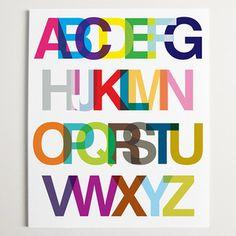 Alphabet Helvetica Print