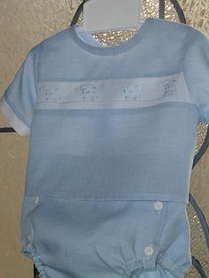 Boy Blue and White Diaper Shirt Set - 3 months - Ready to Ship