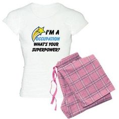 Cafepress Personalized What's Your Super Power Your Occupation Women's Light Pajamas, Size: Small, Pink