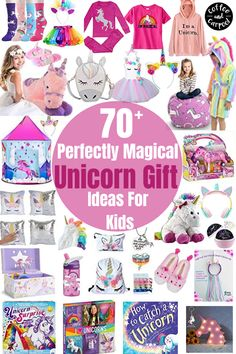 Have a unicorn lover in your life? These cute and adorable 70 Perfectly Magical Unicorn Gift for Kids are the perfect compliment for kids who is obsessed with unicorns. Find the perfect gift for kids who love make believe and unicorns! Give great gifts for Christmas, birthdays and more! #unicorntribe #unicorns #unicornlove  #unicorngifts #giftsforkids #unicornlover #unicorngiftideasforkids #giftideas #giftguide Unicorn Games, Unicorn Books, Unicorn Wall Art, Unicorn Crafts, Unicorn Hat, Unicorn Outfit, Unicorn Headband, Christmas Unicorn, Magical Christmas