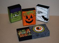 Halloween Matchbox Treat Holders by bzimmer - Cards and Paper Crafts at Splitcoaststampers