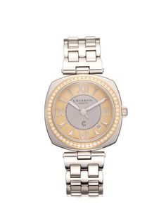 Women's Alexandre Two Tone Watch by Charriol at Gilt Charriol, Morris, Diamond Clarity, Stainless Steel Bracelet, Colored Diamonds, Michael Kors Watch, Gold Watch, Branding Design, Jewels