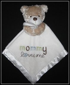 Carter's SmileyHappy Friends Mommy Loves Me Bear Lovey.