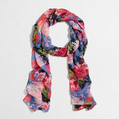 J.Crew Factory - Factory lightweight long printed scarf