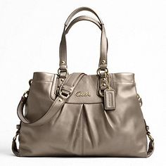 "Coach Ashley Leather Carryall -  it holds a lot, it's a ""go to"" bag when you need to carry a bunch of stuff"