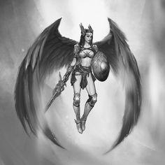 Norse Tattoo, Celtic Tattoos, Viking Tattoos, 3d Tattoos, Tattoo Ink, Angel Warrior Tattoo, Warrior Tattoos, Shoulder Armor Tattoo, Tattoo Brazo
