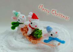 Kim's Pipe Cleaner Rabbit DIY Tutorial #x'mas #Happynewyear #絨毛鐵絲 #OriginalPipeCleaner #ChenilleStem #モールアート #rabbit #毛根 #Cutekittens