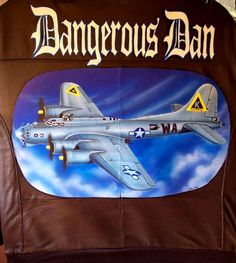 Image detail for -WWII leather bomber flight jackets, B-17 nose art, custom art, WWII ...