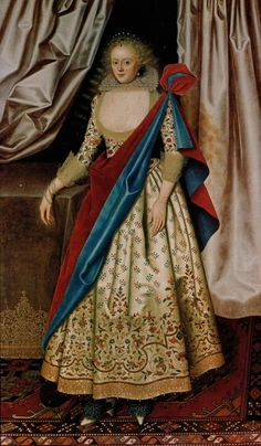 Isabella, Countess of Holland (wife of Henry Rich) circa 1614-18 by William Larkin