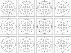 dresden plate quilt coloring pages - Yahoo Canada Image Search Results Circle Quilts, Mini Quilts, Quilt Blocks, Dresden Quilt, Quilting Projects, Quilting Designs, Sewing Projects, Quilting Tools, Dresden Plate Patterns