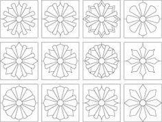 Dresden plate ideas (sunflower quilt)