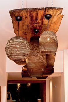 Aurelle Home Large Rustic Reclaimed Wood Chandelier