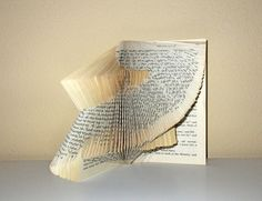book sculpture - folded book