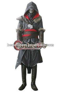 Hot Sale Assassins Creed: Revelations Ezio Auditore da Firenze Cosplay Anime Costume $99~$199