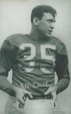 1948-52 Exhibit W468 Black and White #15 Bill Dudley Front