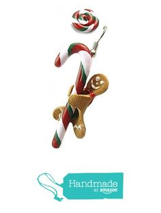 Christmas Earrings, Christmas Ornaments, Gingerbread Man, Candy Cane, Amazon, Holiday Decor, Artwork, Handmade, Accessories