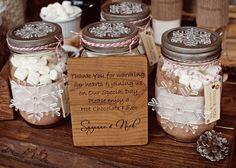winter themed wedding hot chocolate.