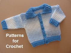 Free crochet pattern for Ribbed cardigan http://patternsforcrochet.co.uk/baby-ribbed-cardigan-usa.html  #patternsforcrochet