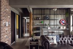 architecture Hong Kong Complex Bachelors Apartment in Taiwan with an Industrial Personality