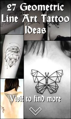 27 Geometric Line Art Tattoo Ideas