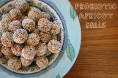 Probiotic apricot balls - only 3 ingredients!