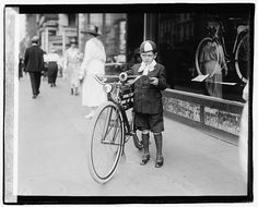 Times boy on bicycle. 1921.