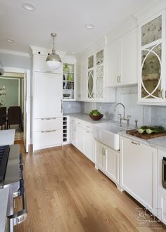 look at the double doors! Vintage-Luxury-Galley-Kitchen-Kitchen ...
