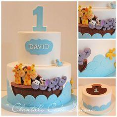 ideas for birthday cake kids boys ideas baby shower Noahs Ark Cake, Noahs Ark Party, Noahs Ark Theme, Baby Boy Baptism, Boy Christening, Baptism Party, Cupcake Cake Designs, Cupcake Cakes, Cupcakes