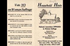 Anti-Woman Suffrage Pamphlet, 1910
