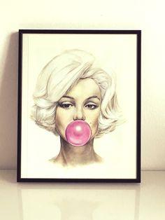NAWELBETTY_DRAWINGS Bubble Marilyn.
