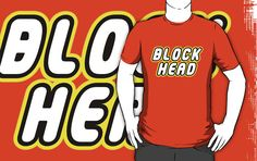 BLOCK HEAD in brick font with by Customize My Minifig by ChilleeW