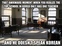 Seriously! Like half of that drama was at school and he's the only teacher we saw!