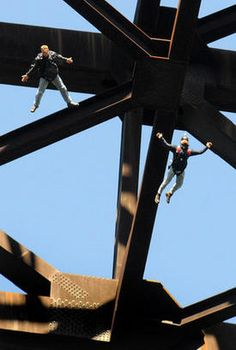 Base Jumping off the New River Gorge Bridge, WV  - Bridge Day annually 3rd Sat in Oct
