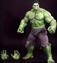 """The Avengers Hulk - 16.5"""" Figure Hot Toys Movie Masterpiece. Hot Toys are proud to present the highly anticipated Hulk Sixth Scale Limited Edition Collectible Figure from the smash hit The Avengers. The movie-accurate collectible is specially crafted based on the image of the giant green-skinned angered monster Hulk in the movie, highlighting the newly developed head sculpt with rolling eyeballs and specially sculpted muscular body. Price: $274.99"""