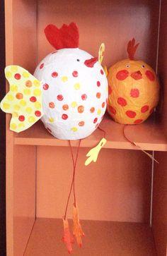 Paaskip papiermaché ballon, activiteit voor schoolkinderen