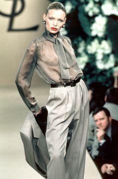 Yves Saint Laurent - Haute Couture - Spring / Summer 1999   Esther Cañadas