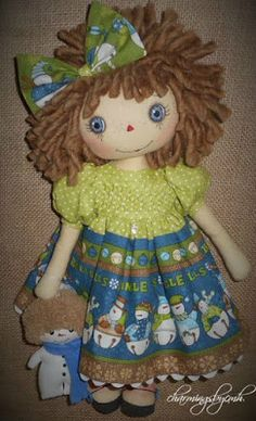 Jingle Snow Annie with hand smocked dress by charmingsbycmh