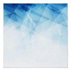 Geometric Blue Abstract Polygon Poster Paper Customize Create Your Own Personalize Diy
